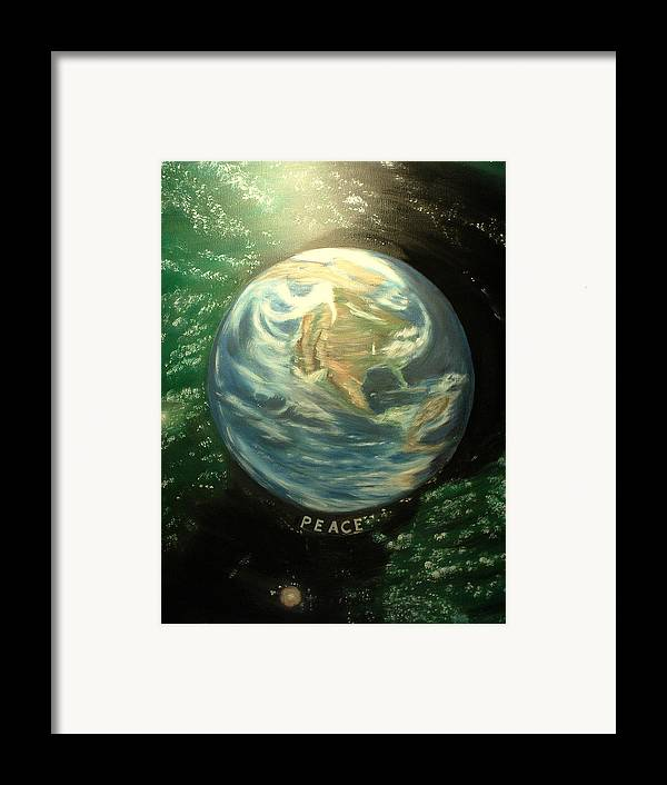 Peace Project Framed Print featuring the painting Peace by Kenneth LePoidevin