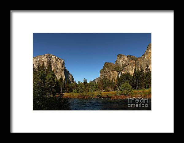 El Capitan Framed Print featuring the photograph Peaceful Merced River by Christiane Schulze Art And Photography