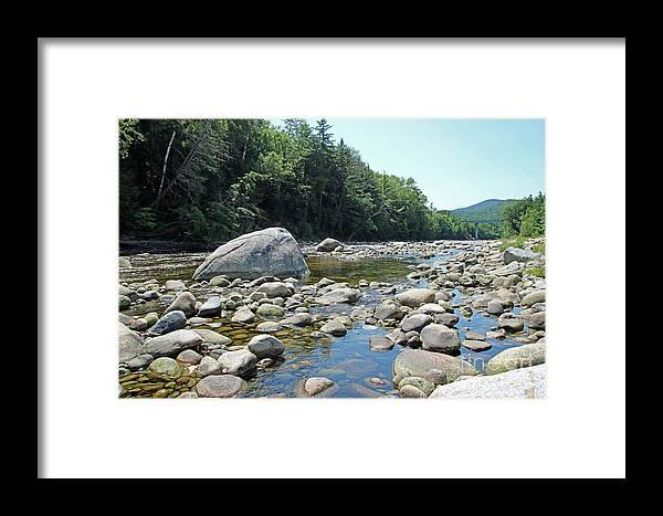 Pemmigewasset Framed Print featuring the photograph Pemmigewasset River by Steve Gass