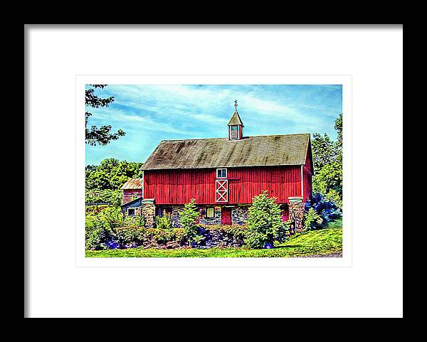 Pennsylvania Framed Print featuring the photograph Pennsylvania Barn by Margie Wildblood