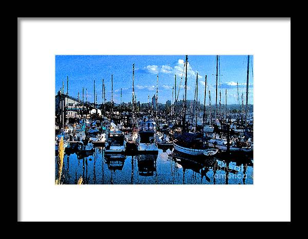 Capital Framed Print featuring the photograph Percival Landing by Larry Keahey