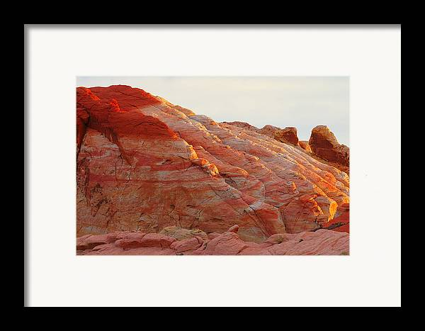 Nevada Framed Print featuring the photograph Petrified Fire by Christine Till