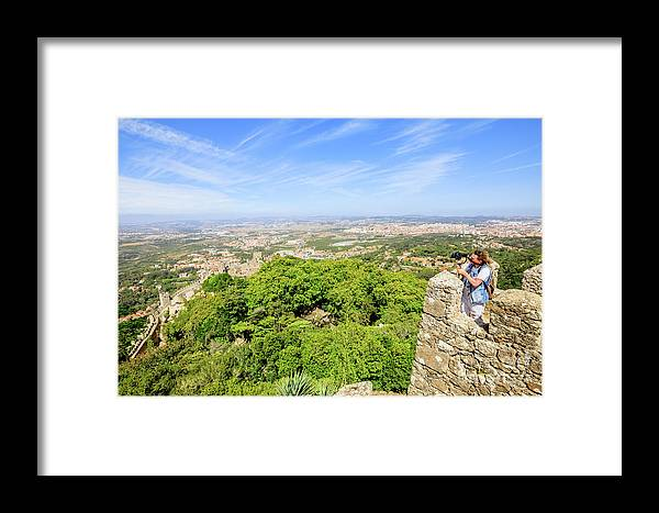 Sintra Framed Print featuring the photograph Photographer At Moorish Fortress by Benny Marty