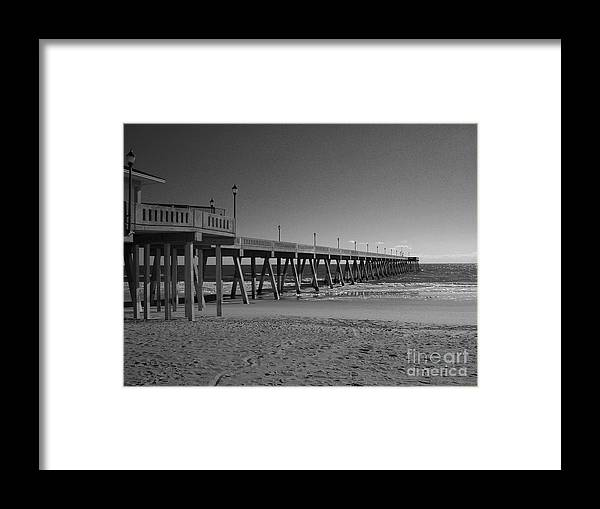 Pier Framed Print featuring the photograph Pier Willmington Nc by Tommy Anderson