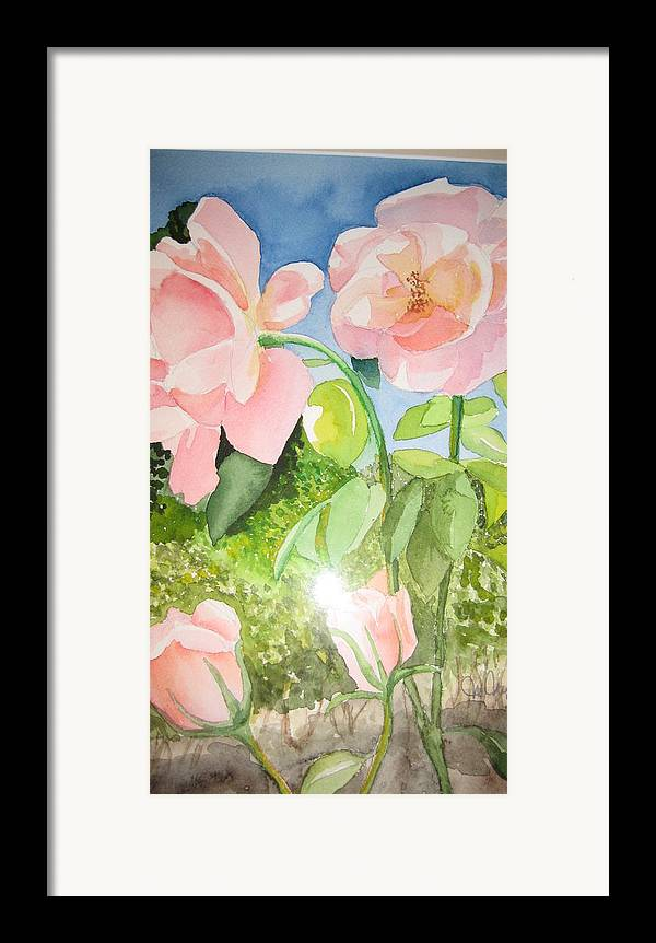 Flowers Framed Print featuring the painting Pink Dream by Mabel Moyano