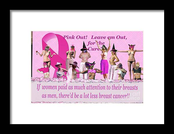Breast Cancer Awareness Framed Print featuring the photograph Pink Out by Broken Soldier
