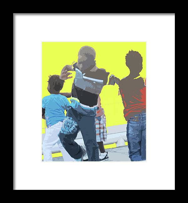 Children Framed Print featuring the photograph Play by Ian MacDonald