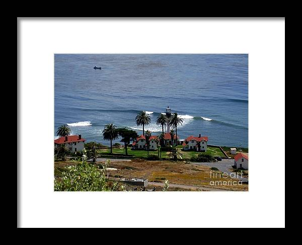 San Diego Lighthouse Framed Print featuring the photograph Point Loma Lighthouse 2 by Marta Robin Gaughen