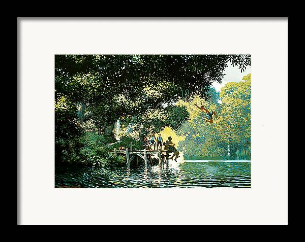 Landscape Framed Print featuring the painting Pointe Pleasant by Kevin Lawrence Leveque
