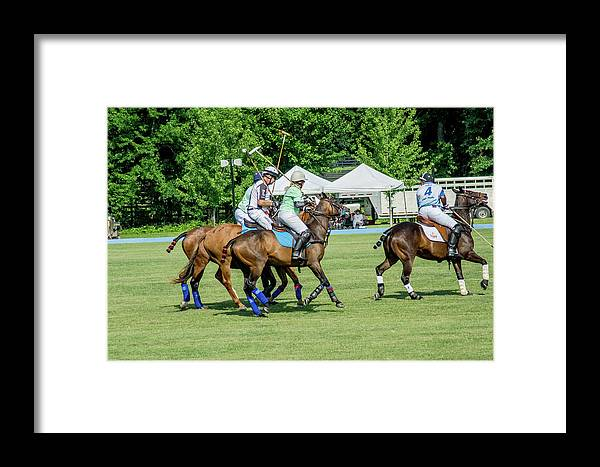 Banbury Cross Framed Print featuring the photograph Polo Group 2 by Sarah M Taylor