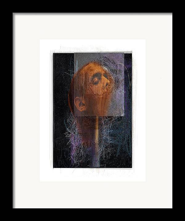 Portrait Framed Print featuring the digital art Popper by Nuff