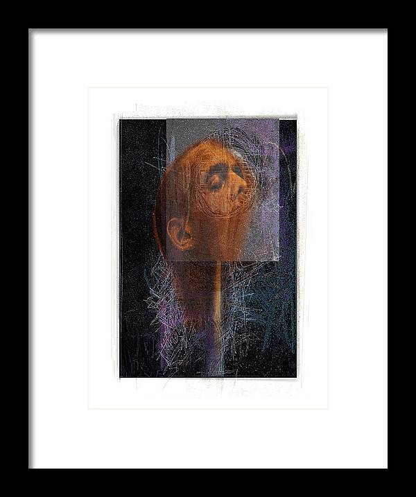 Portrait Framed Print featuring the digital art Popper by Nuff