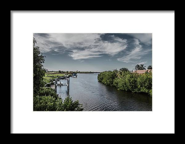 Florida Framed Print featuring the photograph Port Charlotte Atlantus Waterway From Ohara by Don Kerr