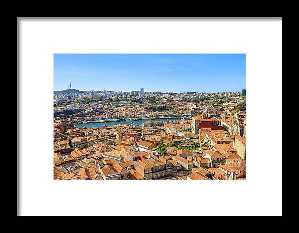 Oporto Framed Print featuring the photograph Porto Skyline Portugal by Benny Marty