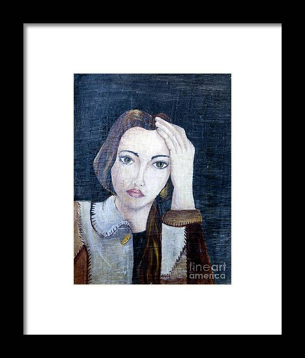 Portrait Framed Print featuring the painting Portrait by Yana Sadykova