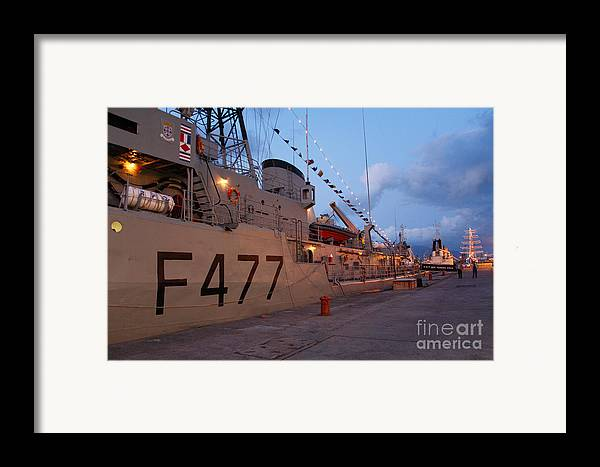 Frigates Framed Print featuring the photograph Portuguese Navy Frigates by Gaspar Avila