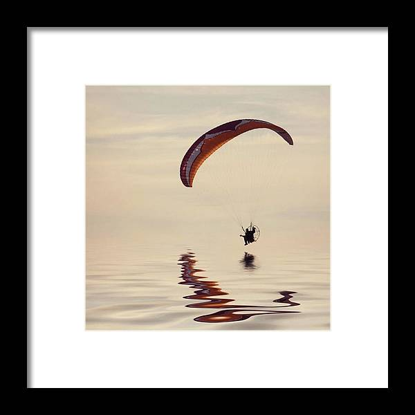 Flyinghigh Framed Print featuring the photograph Powered Paraglider by John Edwards