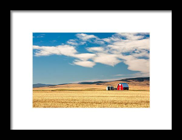 Red Framed Print featuring the photograph Prairie Red by Todd Klassy