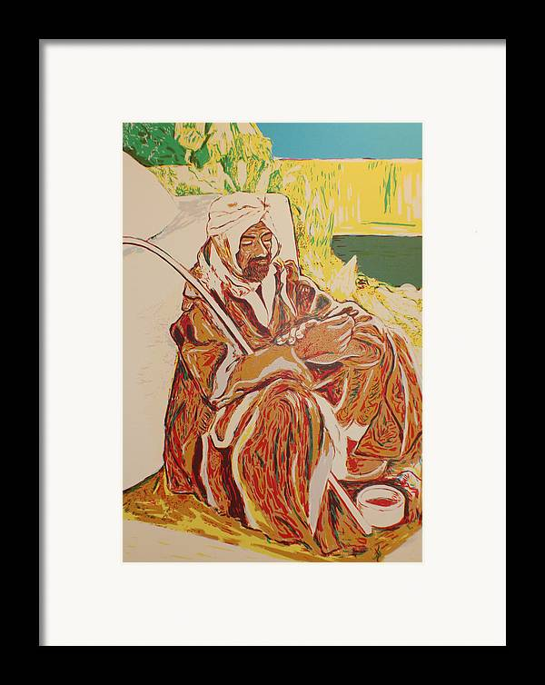 Framed Print featuring the painting Prayer At Benghazi by Biagio Civale