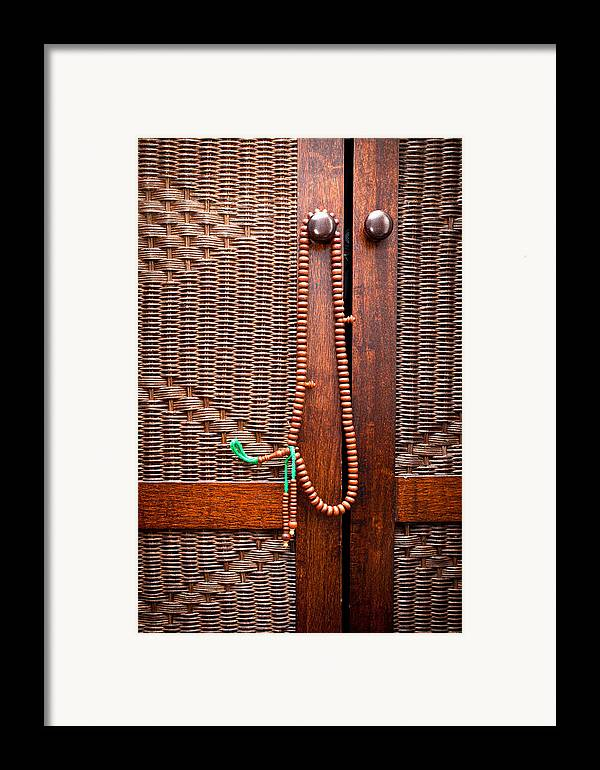 Beads Framed Print featuring the photograph Prayer Beads by Tom Gowanlock