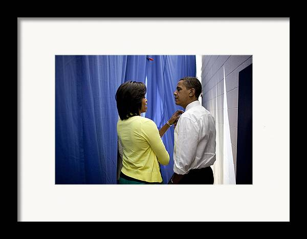 History Framed Print featuring the photograph President Barack Obama And First Lady by Everett