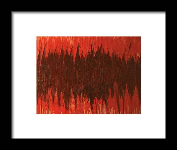 Red Framed Print featuring the painting Pressure by Laurette Escobar