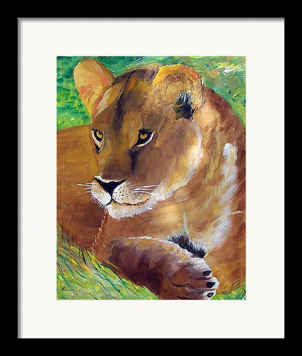 Animal Framed Print featuring the painting Princess by Marcia Paige