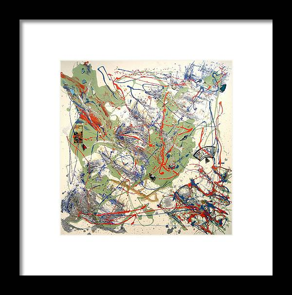 Abstract Framed Print featuring the painting Prudentia by Irma Hinghofer-Szalkay