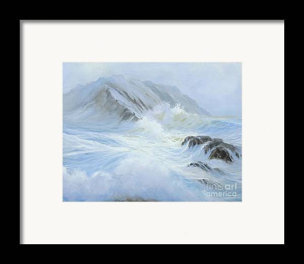 Seascape Framed Print featuring the painting Quiet Moment II by Glenn Secrest