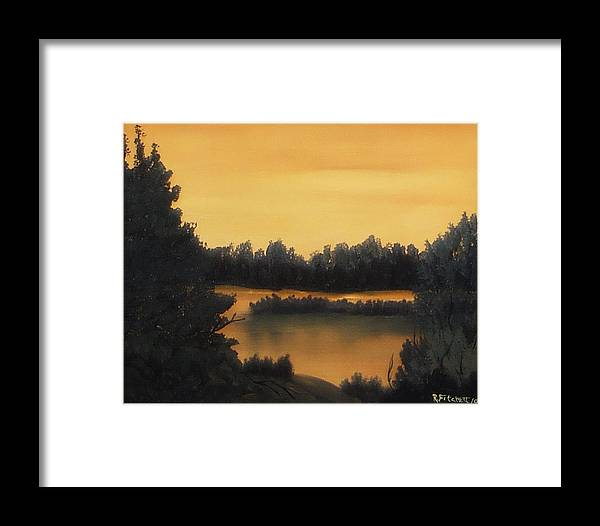 Sunsets Framed Print featuring the painting Quiet Sunset by Rebecca Fitchett