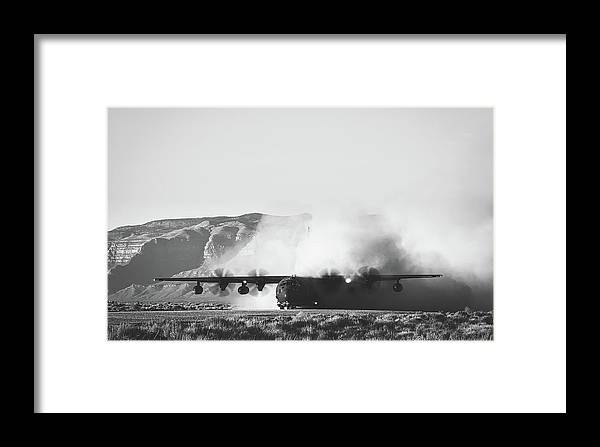 Usaf Framed Print featuring the photograph Quite A Dustup by U S A F