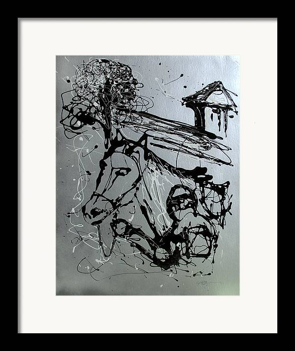 Race Horse Framed Print featuring the painting Race Day by J R Seymour