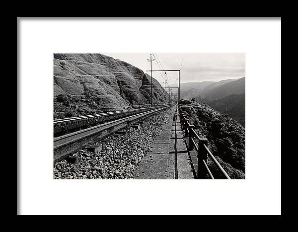 Railroad Framed Print featuring the photograph Railroad by Amarildo Correa