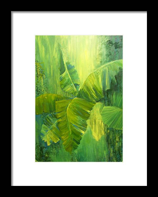 Rain Forest Nature Framed Print featuring the painting Rain Forest by Carol P Kingsley