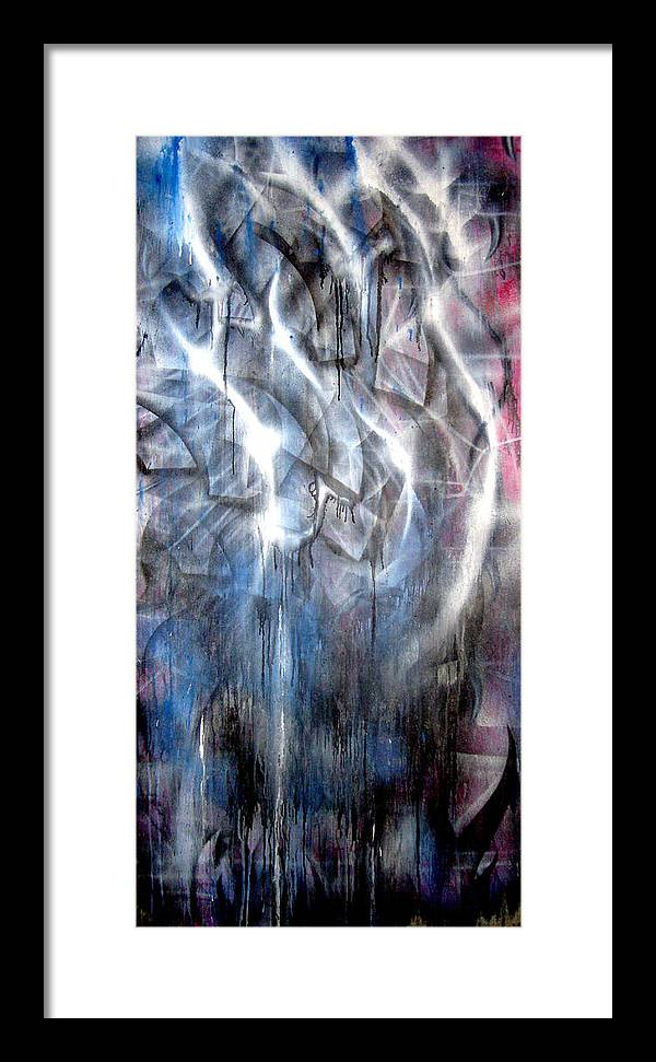 Abstract Framed Print featuring the painting Rain IIi by Leigh Odom