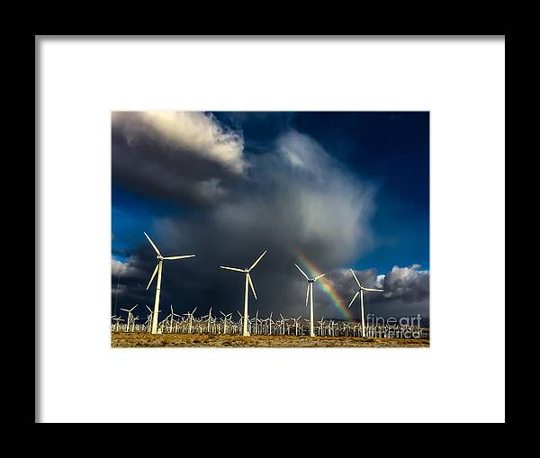 Art Framed Print featuring the photograph Rainbow by Chris Tarpening