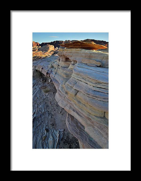 Valley Of Fire State Park Framed Print featuring the photograph Rainbow Wave Of Sandstone In Valley Of Fire by Ray Mathis
