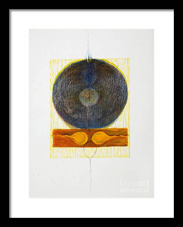 Framed Print featuring the drawing Reciprocal End by Asma Hashmi
