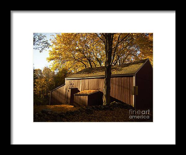 Barn Framed Print featuring the photograph Red Barn At Dawn by Joshua Francia