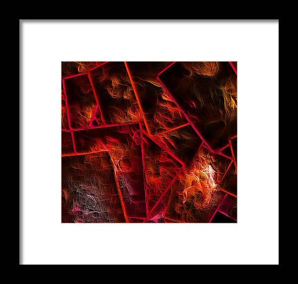 Abstract Digital Art Framed Print featuring the digital art Red Chocolate by Carola Ann-Margret Forsberg