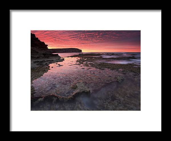 Sunrise Framed Print featuring the photograph Red Sky At Morning by Mike Dawson