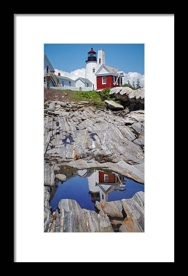 Lighthouse Framed Print featuring the photograph Reflections of Pemaquid by Brenda Giasson