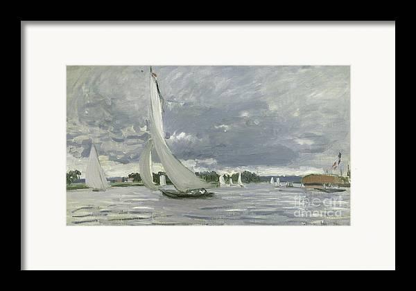 Regatta Framed Print featuring the painting Regatta At Argenteuil by Claude Monet