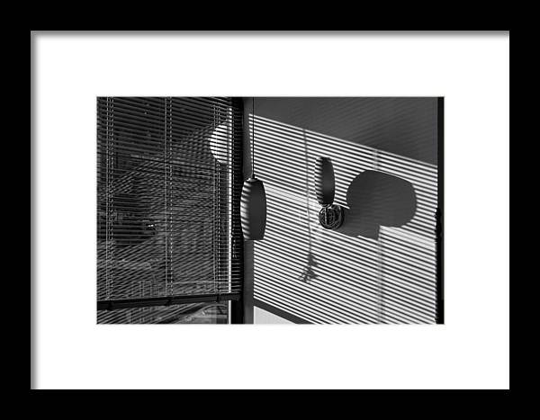 Light And Shadow Framed Print featuring the photograph Restaurant Late Afternoon 3 by Robert Ullmann
