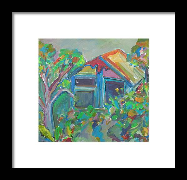 Landscape Framed Print featuring the painting Retreat by Marlene Robbins