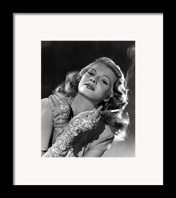 1940s Portraits Framed Print featuring the photograph Rita Hayworth, Columbia Pictures, 1940s by Everett