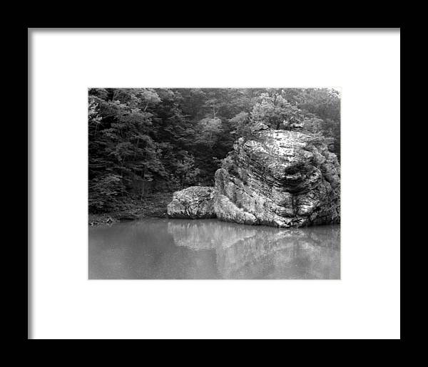 Ansel Adams Framed Print featuring the photograph Rock by Curtis J Neeley Jr