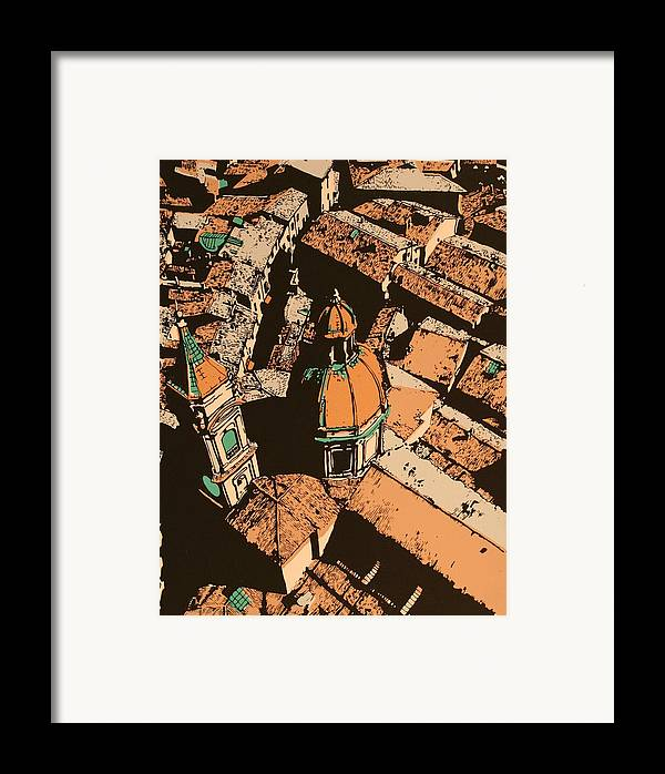 Framed Print featuring the print Roofs Of Bologna by Biagio Civale