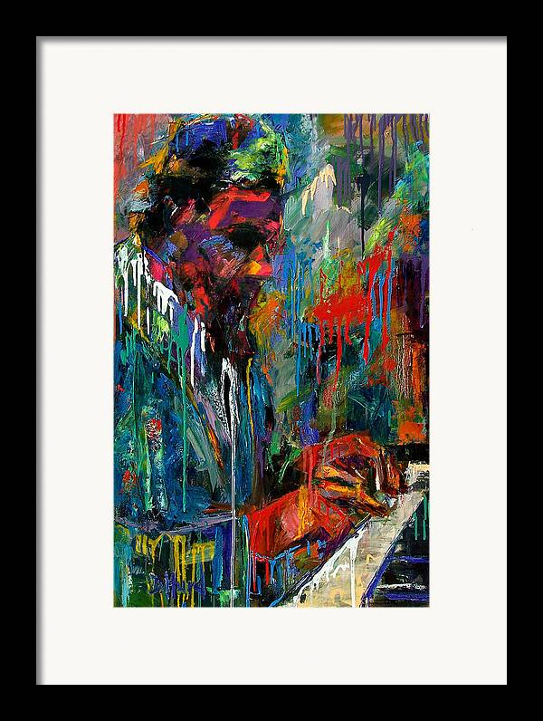 Painting Framed Print featuring the painting Round Midnight by Debra Hurd