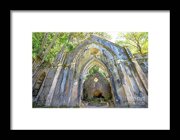 Sintra Framed Print featuring the photograph Ruins Of Chapel Sintra by Benny Marty